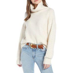 Something Navy turtleneck sweater